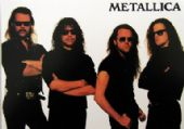 Metallica - 'Group White Background' Postcard